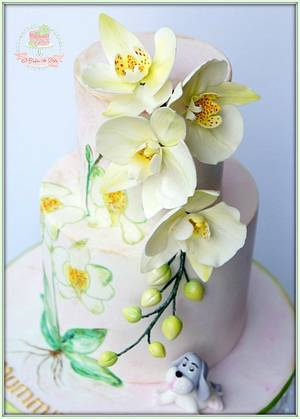 Orchid - Cake by Jo Finlayson (Jo Takes the Cake)