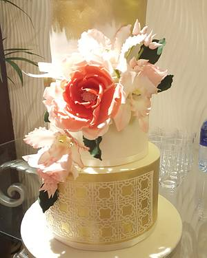 My first weeding cake  - Cake by Shorna's Cake Corner