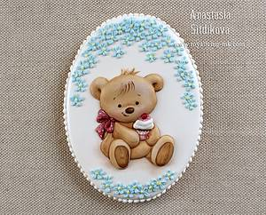 Cookie Bear in Forget-Me - Cake by Anastasia