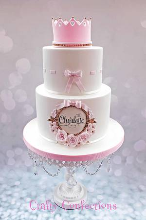 Princess Christening cake - Cake by Craftyconfections