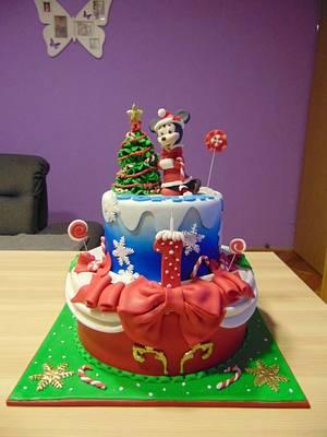 Minnie mouse winter - Cake by Zaklina