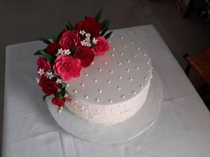 Simply Simple White Wedding Cake - Cake by Sheela