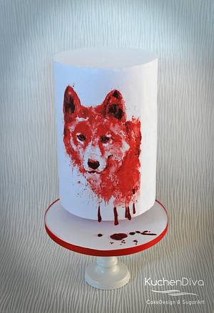 Cry Wolf - Animal Rights Collab - Cake by KuchenDiva