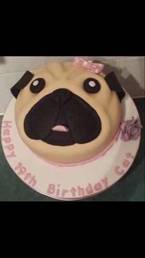 Pug cake xx - Cake by My Darlin Cakes