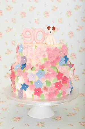 Floral Birthday cake - Cake by Kasserina Cakes
