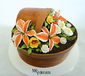 flower pot cake - Cake by Mé Gâteaux