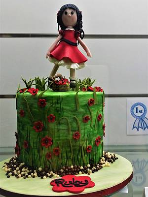 Ruby in a Red dress. - Cake by Sue's Sweet Delights