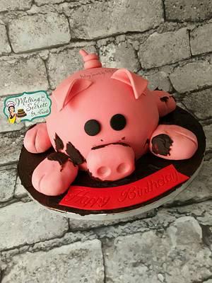 Oink oink a pig shaped cake 🐷 - Cake by Melting Secrets by Kirti