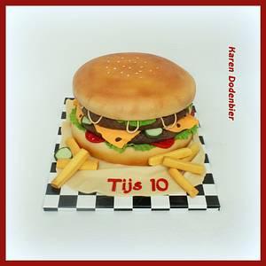 Giant Hamburger - Cake by Karen Dodenbier