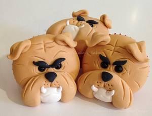 Bulldog Cupcakes - Cake by Shereen