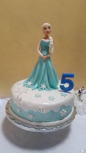 Elsa Frozen Cake - Cake by Mónica