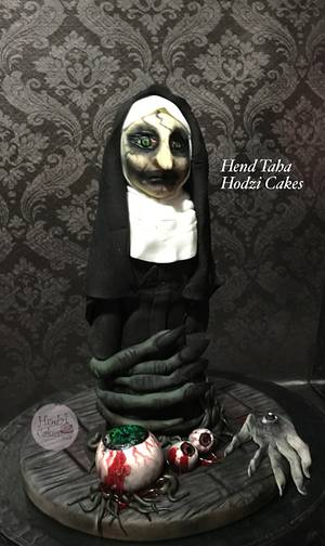 """The Nun""""Trapped Soul""""-CPC 2017 Halloween Collaboration - Cake by Hend Taha-HODZI CAKES"""