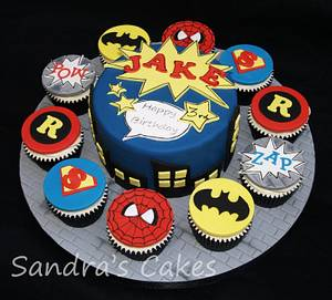 Superheroes! - Cake by Sandra's cakes