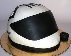 Motorbike helmet - Cake by bolosdocesecompotas