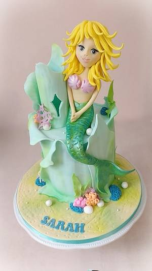 My Little Mermaid - Cake by Dream Cakes by Robyn