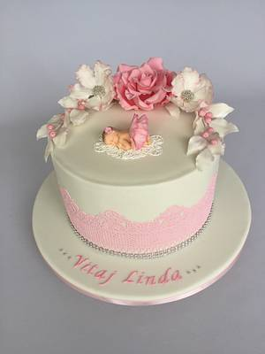 Welcome baby cake - Cake by Layla A