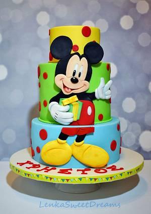Mickey Mouse birthday cake.  - Cake by LenkaSweetDreams