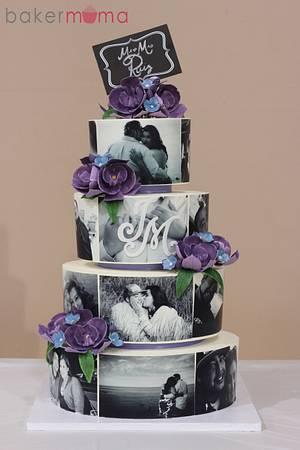 Photo Wedding Cake - Cake by Bakermama