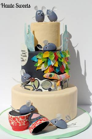 Alexander and the Wind-Up Mouse - Cake by Hiromi Greer