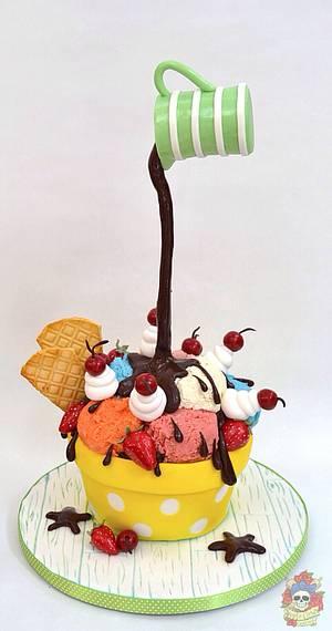 Ice cream!  - Cake by Karen Keaney