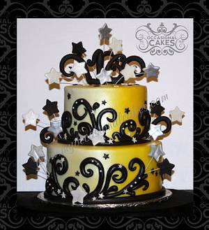 Yellow Ombre Sweet 16 Cake - Cake by Occasional Cakes