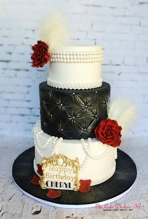A touch of Glamour - Cake by Sumaiya Omar - The Cake Duchess