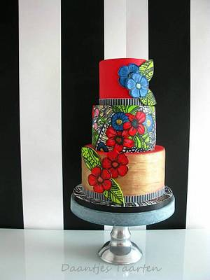 Colourful painting - Cake by Daantje