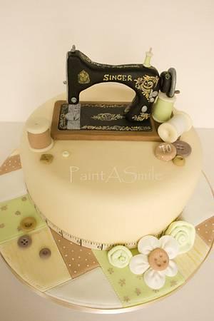 Singer Sewing Machine Cake - Cake by Anjana Cawdell