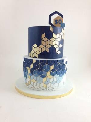 Geometric cake - Cake by tomima
