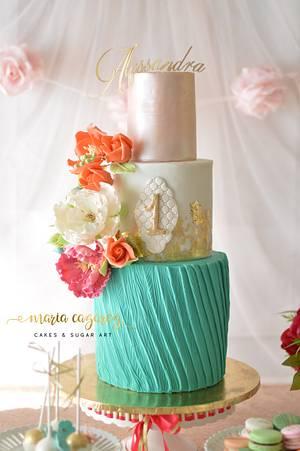 Birthday Cake for Alessandra - Cake by Maria Cazarez Cakes and Sugar Art