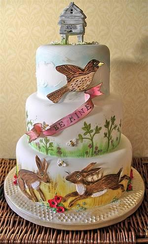 Bee mine - Cake by Lynette Horner