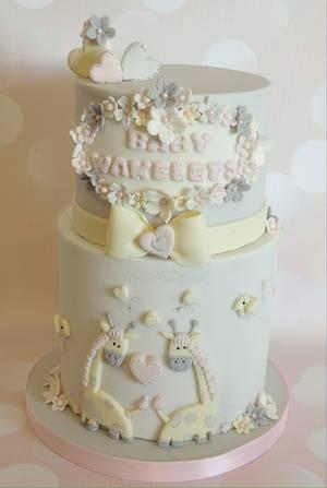 Twin Baby Shower cake - Cake by Shereen
