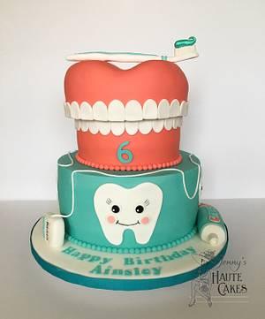 I Want to be a Dentist! - Cake by Jenny Kennedy Jenny's Haute Cakes