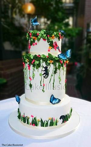Costa Rican Wedding - Cake by Hannah