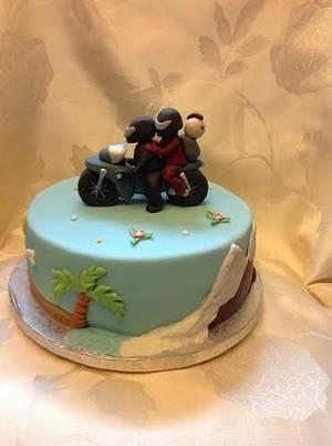 Birthday cake for bikers.  - Cake by Irina Vakhromkina