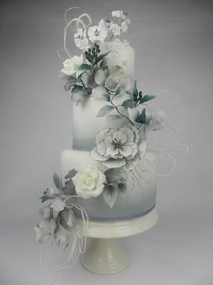 Fantasy flower wedding cake - Cake by Kim Wiltjer