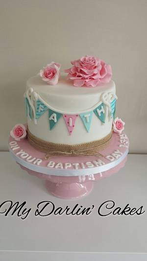 My first baptism cake (not my design)  xx - Cake by My Darlin Cakes