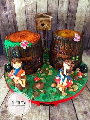 Enchanted pixie fairy garden  - Cake by Andrea