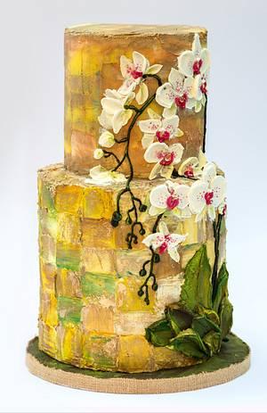 Orchid, materika - Cake by Claudia Prati