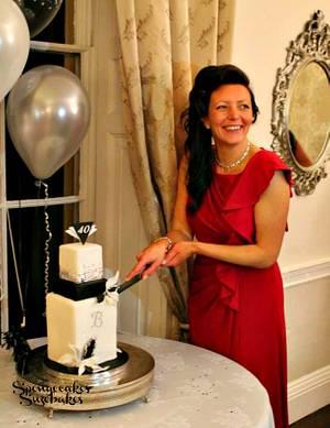 40th Birthday Gatsby Cake! - Cake by Spongecakes Suzebakes