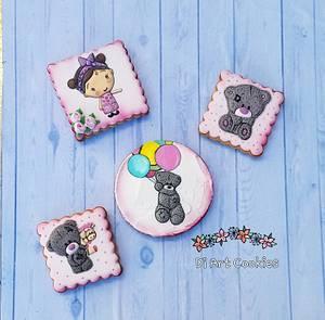 Birthday cookies - Cake by Di Art Cookies