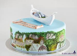 Elvish cake - Rivendel and Lothlorien - Cake by Catcakes
