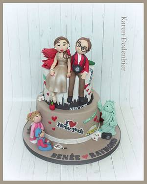 Small personalised wedding cake. - Cake by Karen Dodenbier