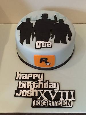 Grand Theft Auto Cake - Cake by The One Who Bakes