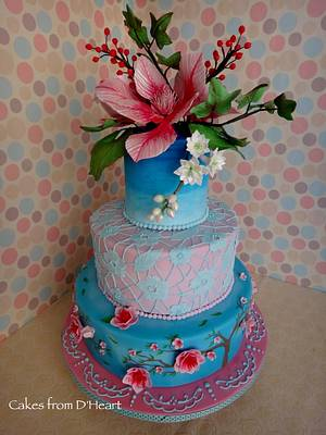Chinoiserie Style Cake - Cake by Cakes from D'Heart