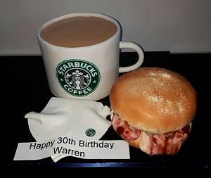 Starbucks breakfast - Cake by Kazmick