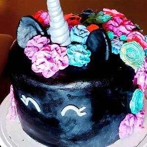 Black Unicorn Cake - Cake by TheUnicornHorn