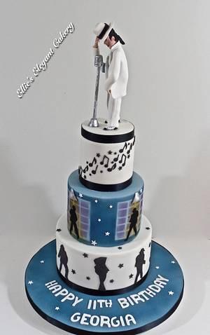 Micael Jackson Smooth Criminal - Cake by Ellie @ Ellie's Elegant Cakery