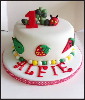 Hungry caterpillar cake - Cake by Babbaloos Cakes