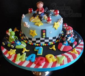 Mario Go kart cake - Cake by CupcakesbyLouise